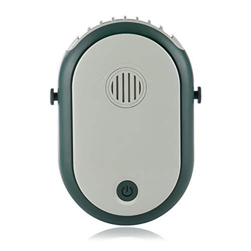FreshWater Ventilador portátil para colgar en el cuello, recargable por USB, con cordón ajustable para viajes al aire libre, camping