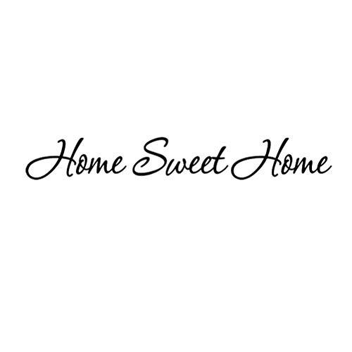 VOSAREA Vinilo Decorativo para Pared de Frases Pegatinas de Pared Decoración Pared para Salon Cocina Dormitorio con Letra Home Sweet Home