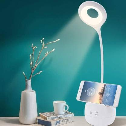 PaxMore Rechargeable LED Touch On/Off Switch Desk Lamp Children Eye Protection Student Study Reading Dimmer Rechargeable Led Table Lamps USB Charging (5 in One)