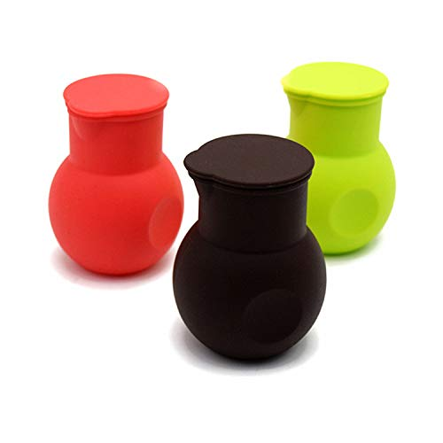 DD-life 3 Pcs Silicone Chocolate Melting Pot, Butter Sauce Milk Microwave Baking Pouring Tool
