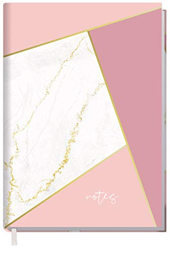Notizbuch A5 liniert [Mosaik Marmor] von Trendstuff by Häfft | 124 Seiten, 62 Blatt | ideal als Tagebuch, Bullet Journal, Ideenbuch, Schreibheft | nachhaltig & klimaneutral