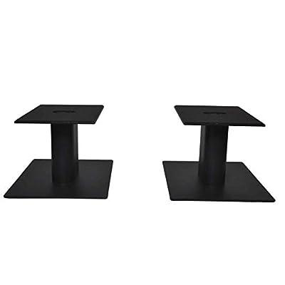 Fisual Dynami Matte Black Desktop Speaker Stands (Pair) (Medium) by Fisual