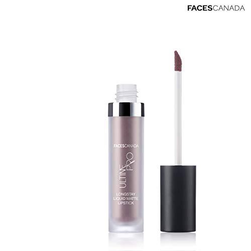 Faces Canada Ultime Pro Longstay Liquid Matte Lipstick Warm Nude 08 6ml (Brown Nude)