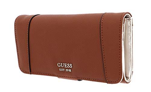 Guess Naya SLG File - Bolso de mano, color marrón