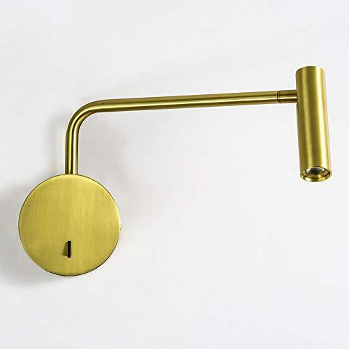 Tafellamp wandlamp bureaulamp leeslamp 180de tafellamp draaibaar voor tafelverlichting kinder-goud_4000K natuurwit_3W