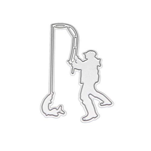 WuLi77 Angeln Metall Stanzschablone Die Stanzen Zum Basteln Von Karten, Prägeschablone Für Scrapbooking, DIY Album, Papier, Karten, Kunst, Dekoration