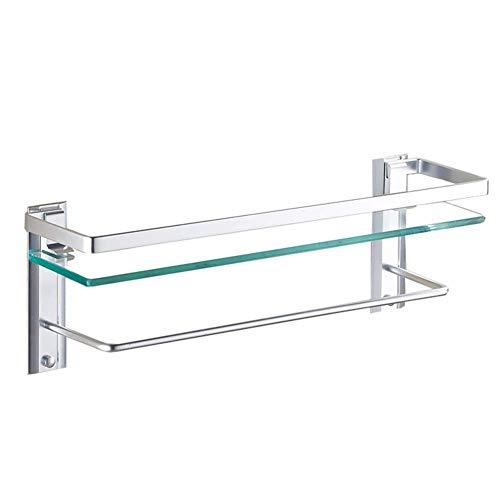 Mr. badkamer planken rechthoek koper douche-organisator waterdichte antiroest boren badkamer accessoires (kleur: Zilver, afmeting: 265x122x76mm)