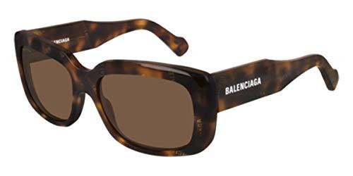 Balenciaga gafas de sol BB0072S 002 Habana brown tamaño de 56 mm de las Mujeres