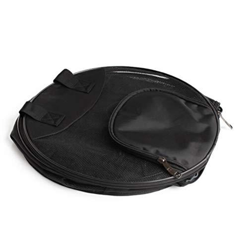POPETPOP 1 stück Pet runde trage Katze Falten super atmungsaktive Handtasche Oxford Stoff pet Reisetasche für kätzchen & welpen (schwarz)