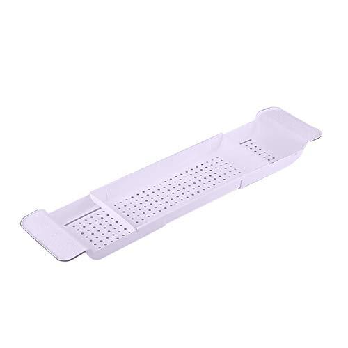 Bandeja de bambú caliente para bañera o baño, bandeja de baño, bandeja de almacenamiento para baño, color rosa