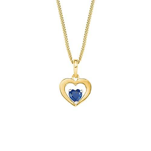 amor Kette mit Anhänger für Damen, Gold 375, Zirkonia Herz