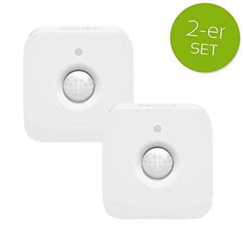 2er Set Philips Hue Bewegungsmelder Infrarot Sensor Bewegungssensor weiß IP42 drehbar schwenkbar