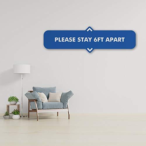 DKISEE Adhesivo de pared azul de 1,8 m para decoración del hogar, cuarto de estar, oficina, cuarto de baño