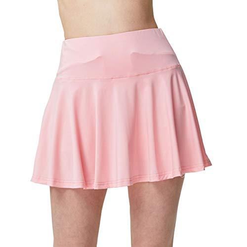 Lcoco&Dream Women's Tennis & Golf Skort Pleated Sport Running Skirt Built in Shorts Pockets (Pink, M)