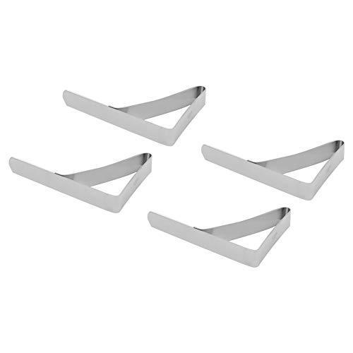 FASJ Clips de Tela de Mesa, Resistentes 4 Pinzas Antideslizantes para Cubierta de Mantel, Grandes para Mantel Fijo para Restaurante, para el hogar, para Mesa de Picnic, Clip