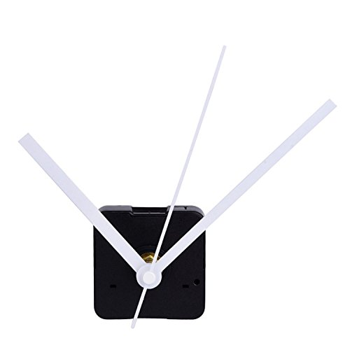 Mudder Silence Quartz Clock Movement, 11/25 Inch Maximum Dial Thickness, 4/5 Inch Total Shaft Length (White)