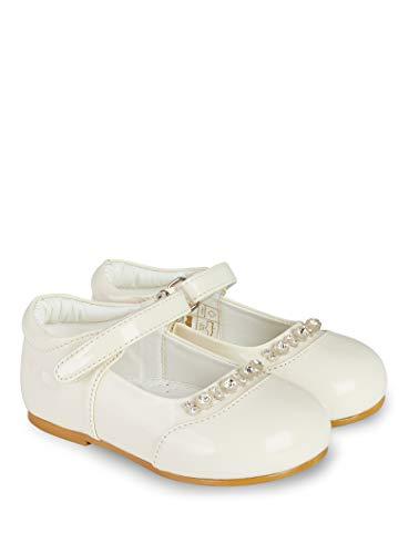V.C. Mädchen Taufschuhe Ballerinas Festliche Babyschuhe Creme 25