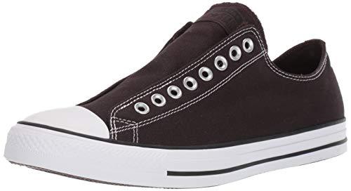 Converse Chuck Taylor All Star Zapatillas de caña Baja sin Cordones, Marrón (Terciopelo Marrón/Negro/Blanco), 34 EU