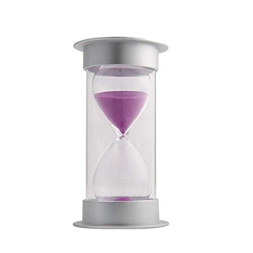 FUNRE 60 Minuten Sanduhr, Modern Sand-Timer mit Sand for Mantel Büro-Schreibtisch Couchtisch Bücherregal Curio Schrank oder End Table Chris (Color : Purple)