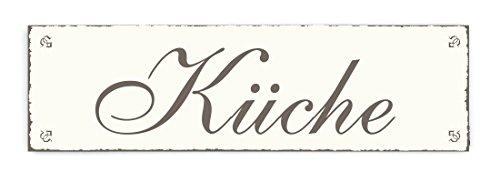 SCHILD Dekoschild KÜCHE Shabby Vintage Türschild - ca. 20 x 6 cm