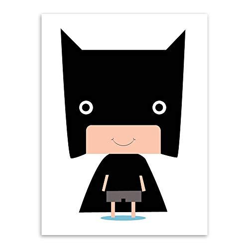 SDFSD Klassischer Hollywood-Film Cartoon Niedliche einfache Fledermaus Superheld Poster Kinderzimmer Kinderzimmer Home Decor Zimmer Poster Leinwand Malerei 60 * 100cm