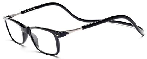 Click Magnetic Reading Glasses Adjustable Front Connect Reader(Black05 275)