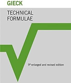 Best gieck technical formulae Reviews
