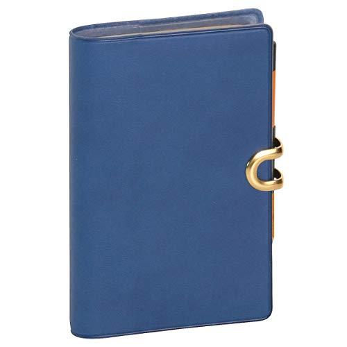 Exacompta Taschenkalender, Wochenansicht, goldfarbener Rücken mit Verschluss und Bleistift, 115 x 75 mm, verschiedene Farben