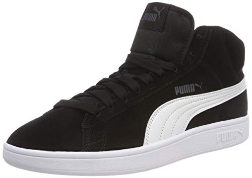 Puma Smash V2 Mid SD, Sneaker a Collo Alto Unisex - Adulto, Nero (Puma Black/Puma White), 40.5 EU