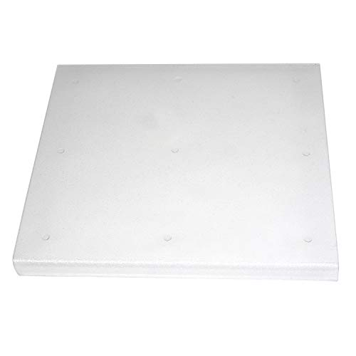 """Excelsior Home Products Extra Large Acrylic Cutting Board with Counter Lip, 18.5""""L x 20""""W, Clear"""