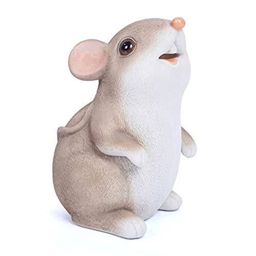 CHENMAO Hucha Hucha de ratón de Dibujos Animados, Caja de Almacenamiento de Monedas Linda, Decoraciones para el hogar, niños alcancía