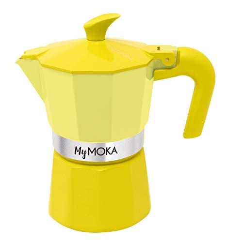 Pedrini Mymoka - Cafetera de aluminio, Sunshine
