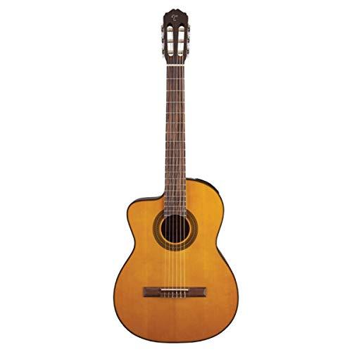 Takamine GC1CE Guitarra Acústica-Eléctrica de Cuerda de Nylon para zurdos