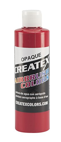 Createx Colors Paint for Airbrush, 8 oz, Opaque Red by Createx Colors