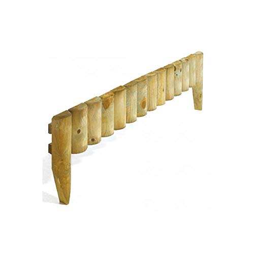 Rowlinson enkel fixa spikad kantrulle (paket med 2) Pack of 4 Border Fence