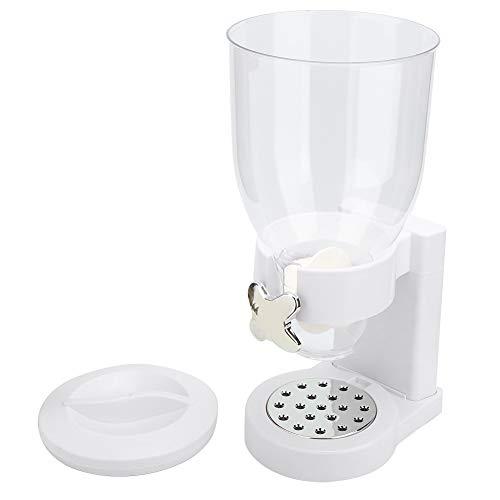 Durable Break-resistant White Cereal Dispenser, Dry Food Dispenser Cereal Machine, for Kitchen Home
