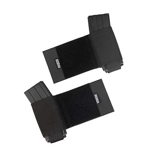 OneTigris Magazintasche Mag Pouch Seitliche elastische Kummerbund Ammo Halter |MEHRWEG Verpackung (Schwarz) (Schwarz)