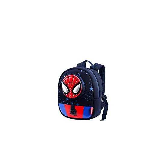 QUAN YOU Kinder Schultasche -Kindergarten Boy 3-6 Jahre altes Kind Baby Cartoon Anti-verlorene Spiderman Rucksack Gepäck/Rucksack/Kinderrucksack (Color : A, Size : 22 * 11 * 28cm)