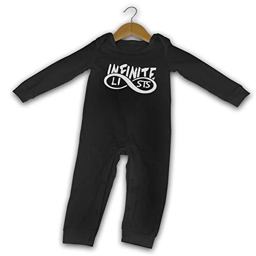 Infinite~Lists - Mono de algodón para bebé recién nacido de manga larga para niños y niñas