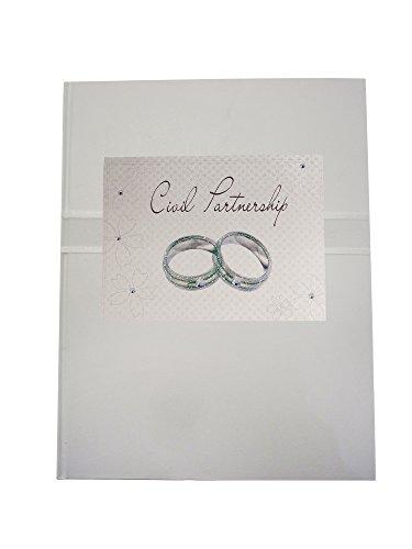 Wit Katoen Kaarten Burgerlijk Partnerschap, Bruiloft Ring ontwerp Planner CP9