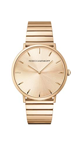 Rebecca Minkoff Women's Quartz Watch with Stainless Steel Strap, Rose Gold, 20 (Model: 2200007)