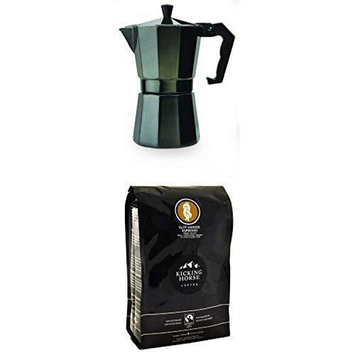 Primula 6-cup Espresso Maker with Kicking Horse Coffee, Whole bean, Cliff Hanger Espresso, 2.2 Pound