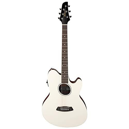 Ibanez TCY10E Talman Acoustic Guitar, Purpleheart Fretboard, Ivory