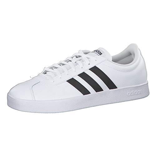 adidas VL Court 2.0, Chaussures de Fitness Homme, Blanc (Ftwbla/Negbas 000), 52 2/3 EU