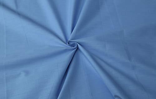 Generico Morbida e Leggera Mussola di 100% Cotone al Mezzo Metro - Tinta Unita - Azzurro - Altezza 140 cm - 150 gr/mq - Alta qualità (Azzurro)