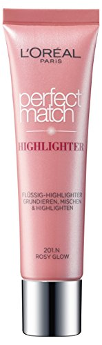 L'Oreal Paris Highlighter Make-Up Foundation Perfect Match 201.N Rosy Glow, 1 Stück