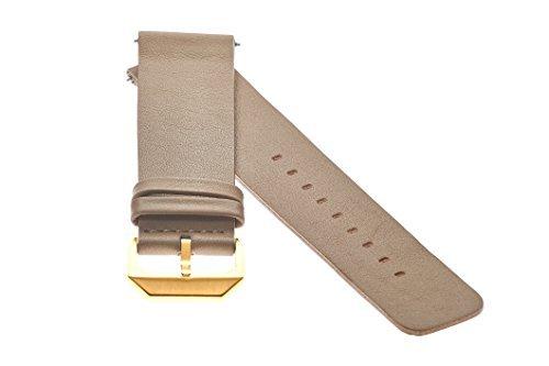 slow - Beiges Lederband mit goldenem Verschluss - 20mm Breite