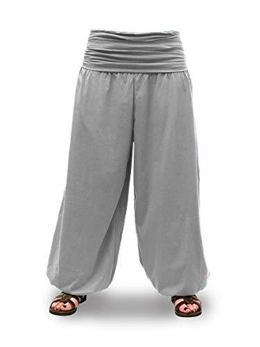 Savari Pantalones Yoga Meditacion Bombachos Unisex Hombre y Mujer Negro Blanco Gris Marino Vino (Gris, XL)