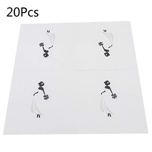 Yeptop 20 laken/tas creatief wit jurk bruid papier servetten gast bruiloft partij tafelgerei decoratie levering