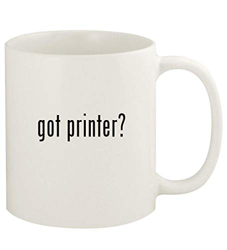 got printer? - 11oz Ceramic White Coffee Mug Cup, White 3d barcode scanner